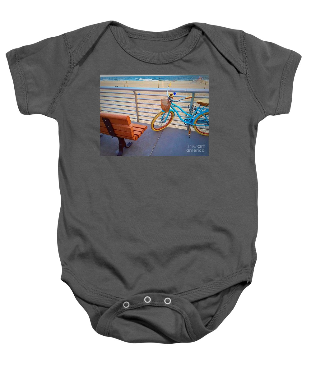Beach Baby Onesie featuring the photograph Long Beach Cruiser by Bri Lou