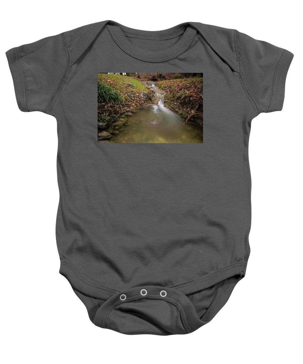Long Exposure Baby Onesie featuring the photograph Long Exposure Picture Of Waterfall by Matteo Urbani