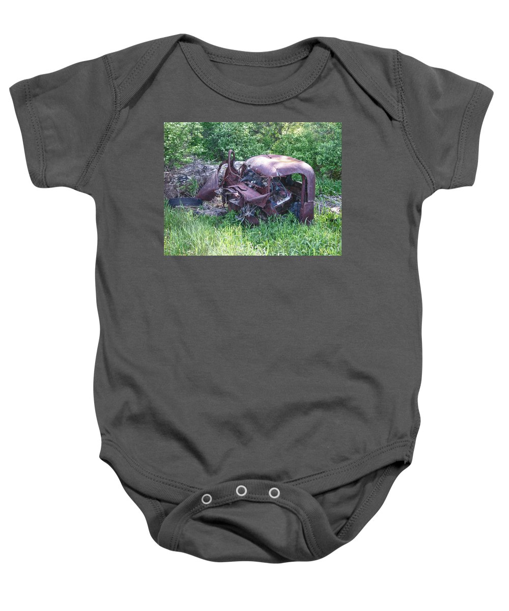 Automobile Baby Onesie featuring the photograph Long Forgotten 2808 by Guy Whiteley