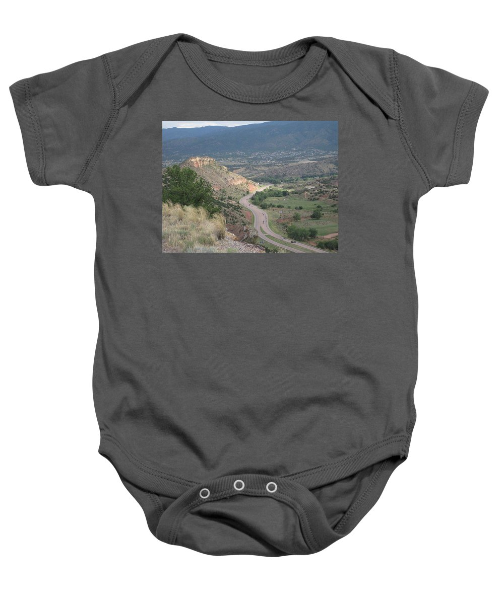 Baby Onesie featuring the photograph Look Down by Rocky Washington