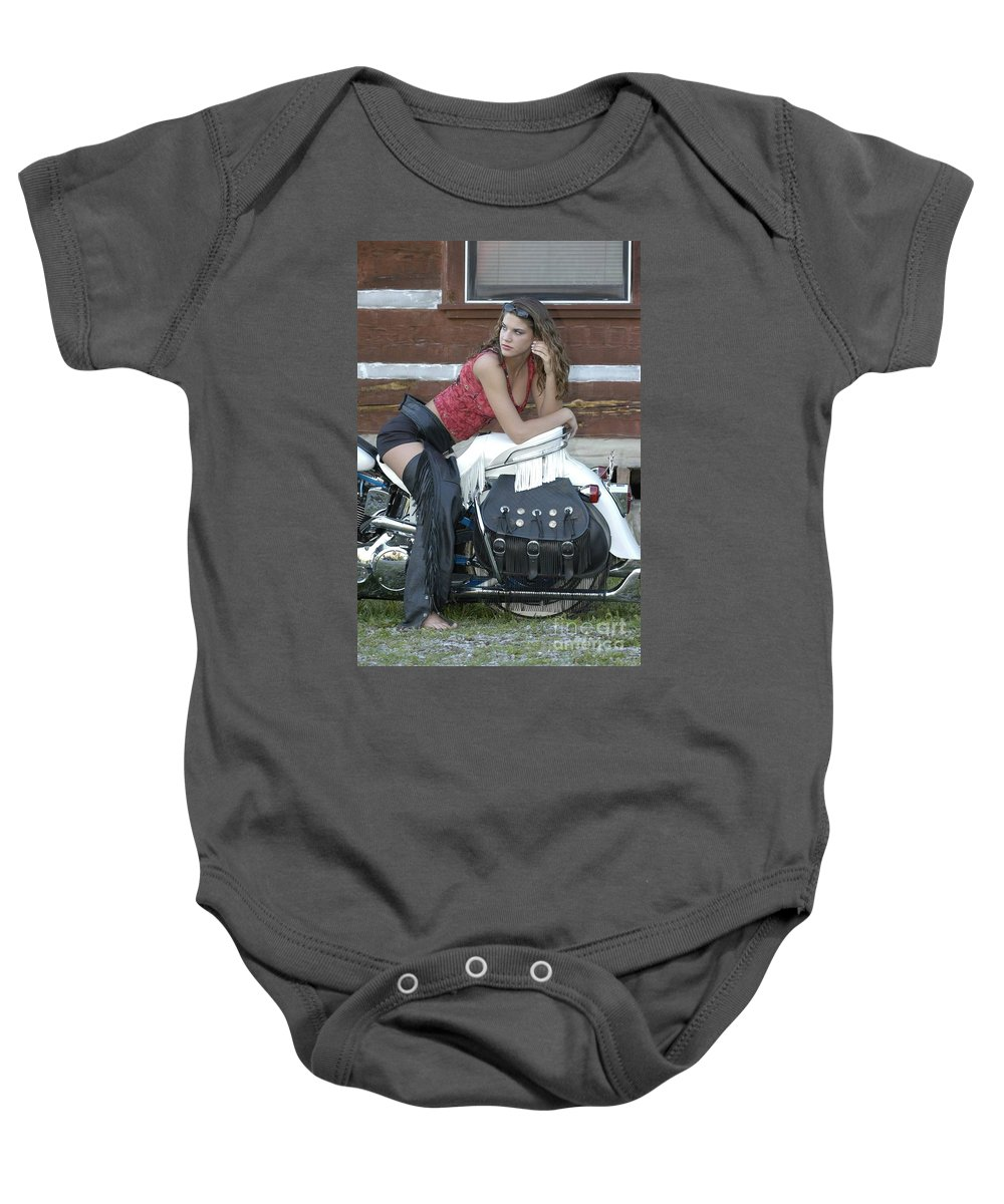 Clay Baby Onesie featuring the photograph Looking Back On Life by Clayton Bruster
