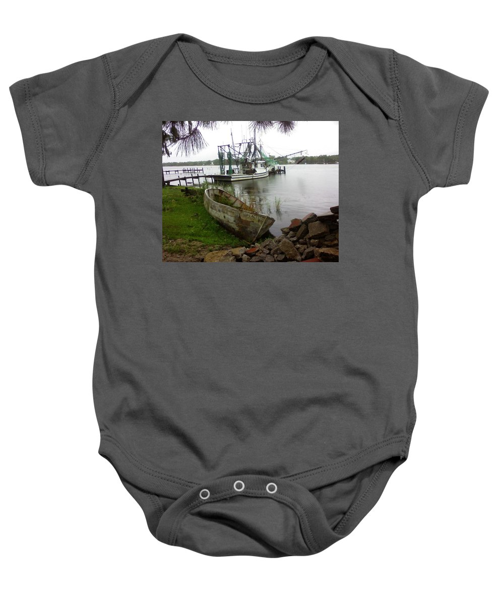 Boat Baby Onesie featuring the photograph Lost Boat by Patricia Caldwell