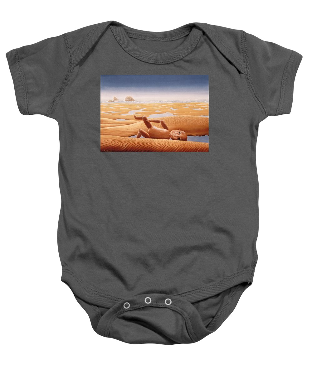Surreal Baby Onesie featuring the painting Lost In A Dream by Mark Cawood