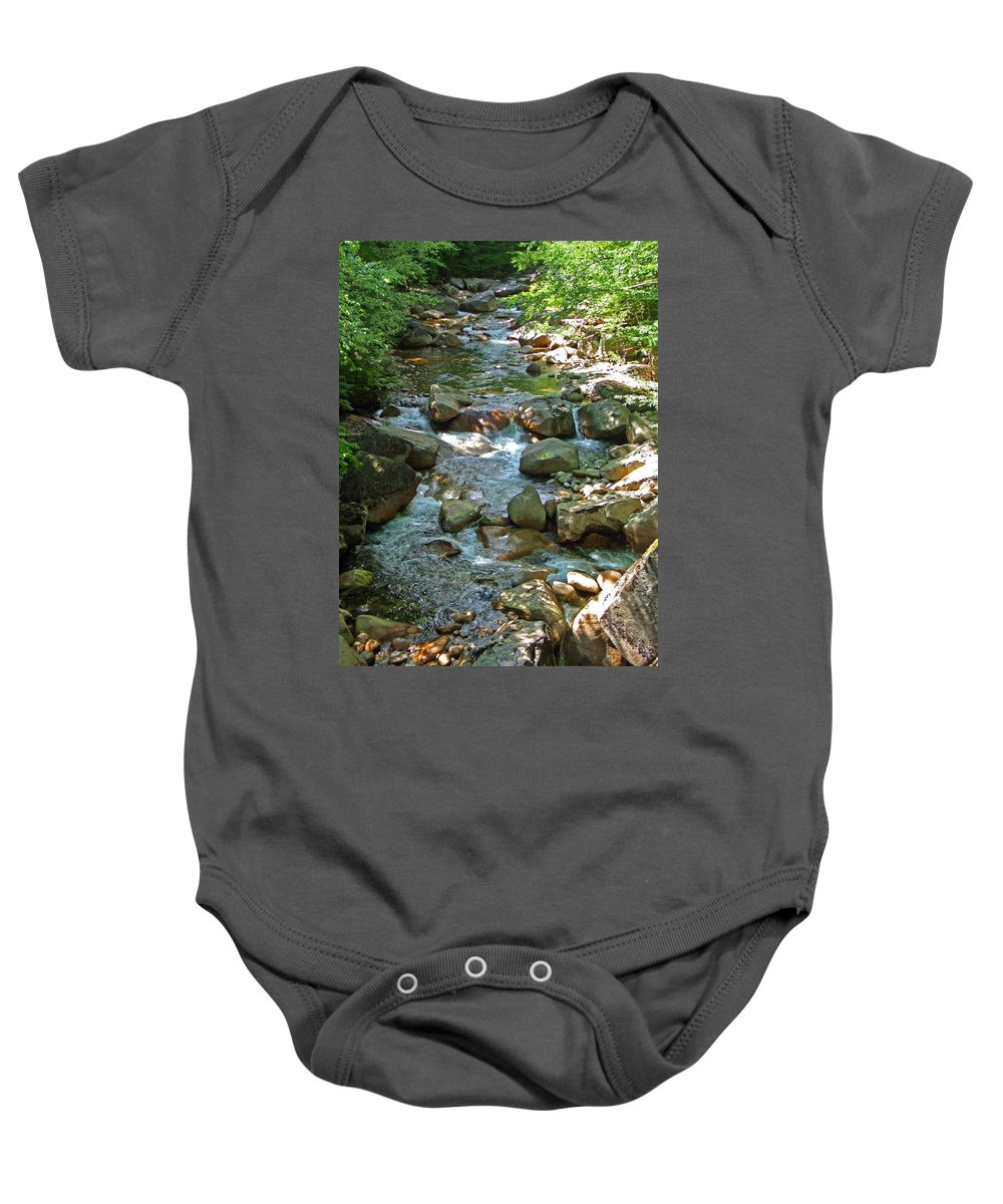 Forest Baby Onesie featuring the photograph Lost River 1 by Mark Sellers