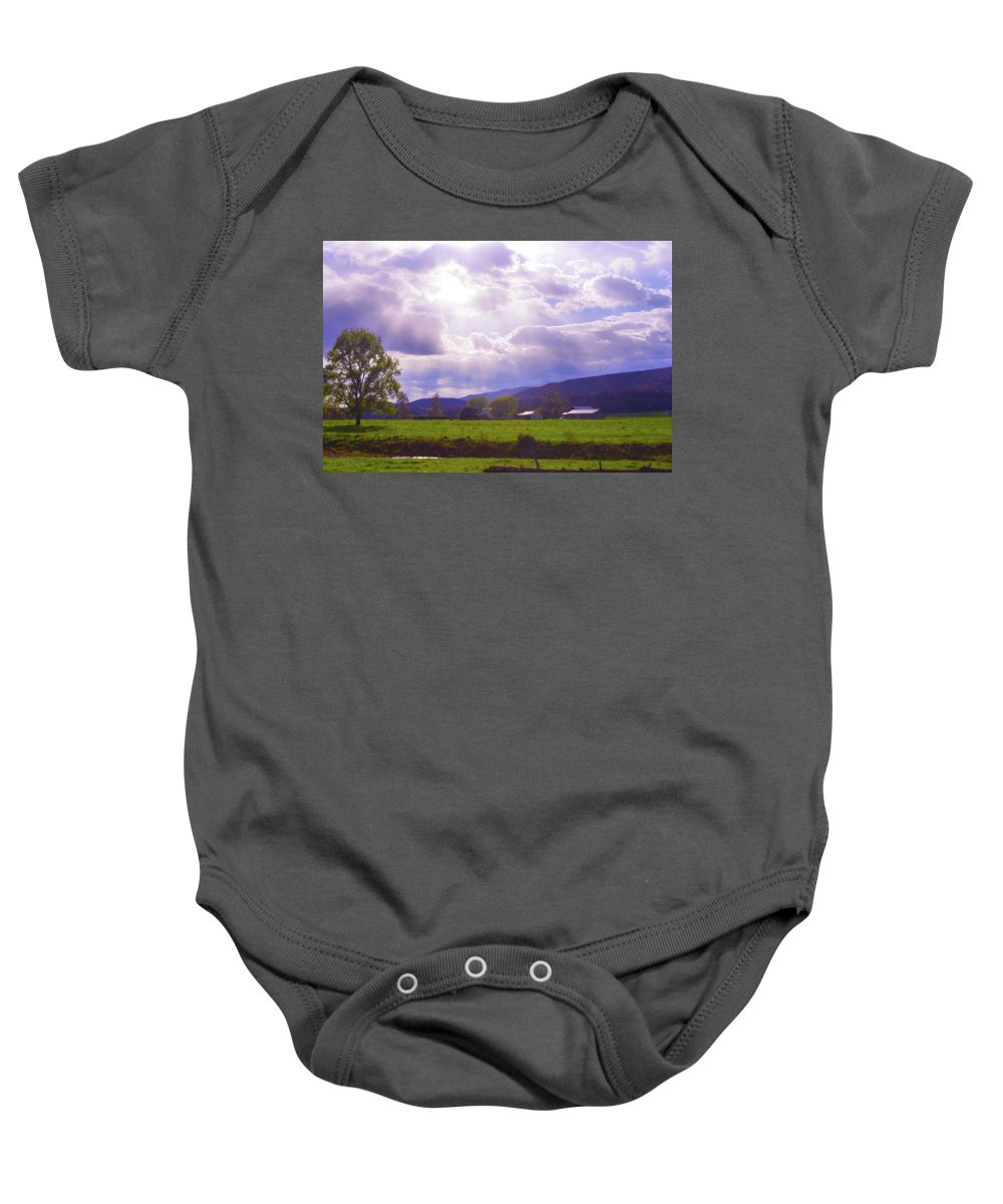 Lost River Baby Onesie featuring the photograph Lost River Heavens by Merrill Miller
