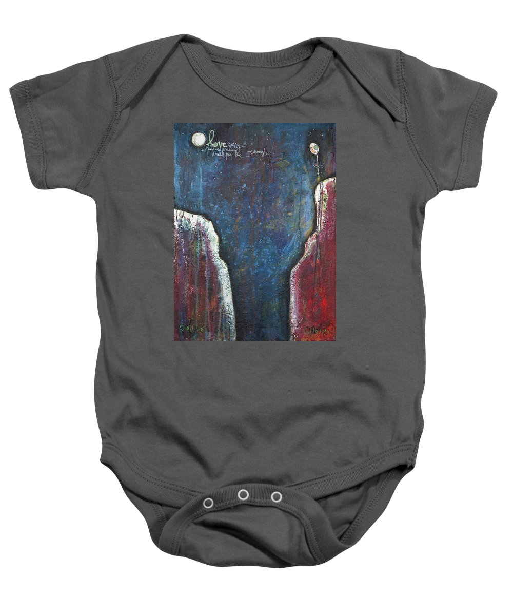 Love Baby Onesie featuring the painting Love Song by Laurie Maves ART