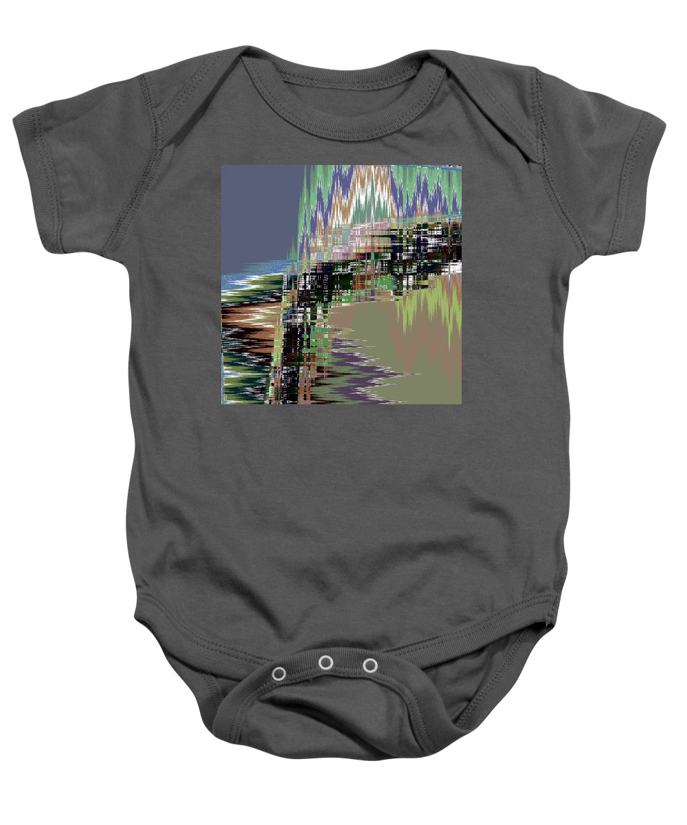 Abstract Baby Onesie featuring the digital art Loving Life by Lenore Senior