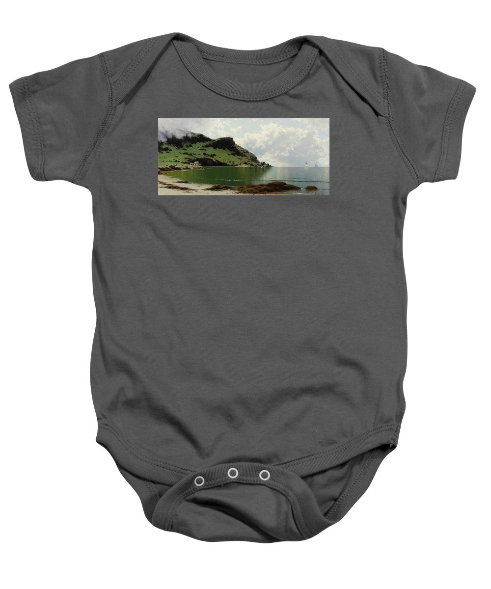 Alfred Thompson Bricher Baby Onesie featuring the painting Low Tide by Alfred Thompson