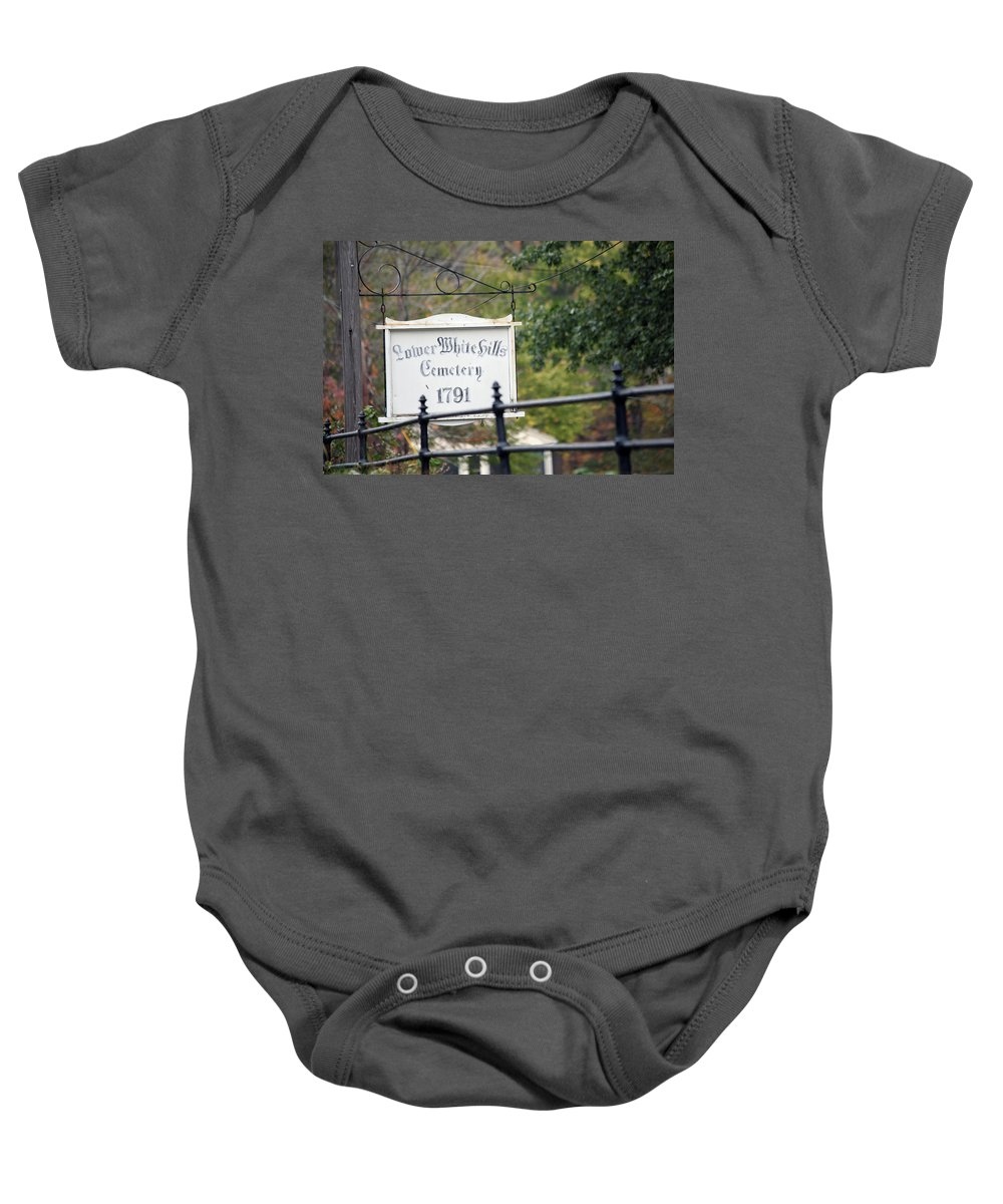 Scenic Baby Onesie featuring the photograph Lower White Hills Cemetery by Karol Livote