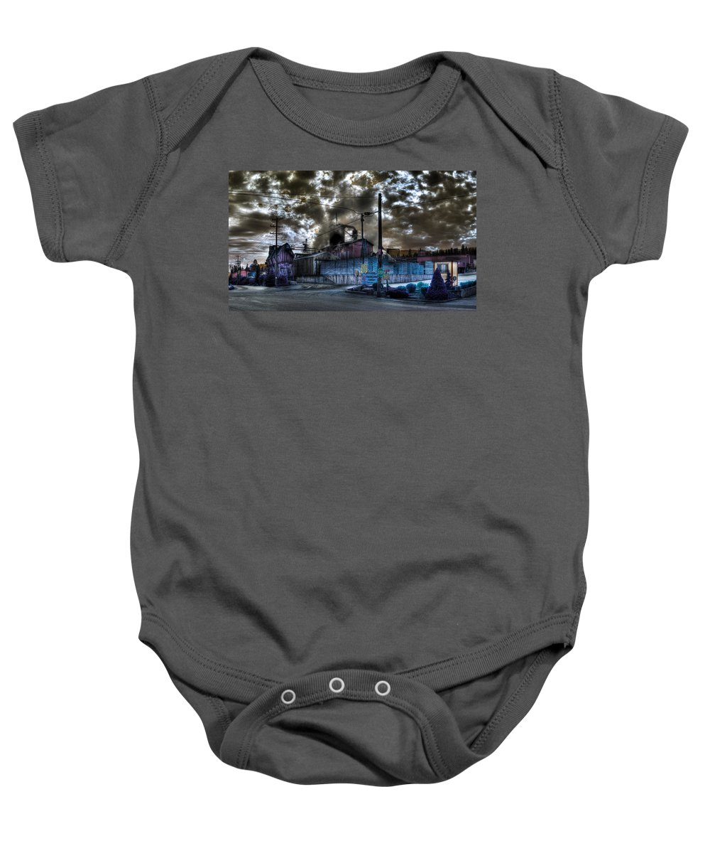 Digital Fantasy Baby Onesie featuring the photograph Lumber Mill Fantasy by Lee Santa
