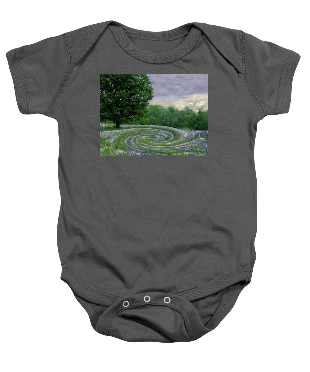 Lupine Baby Onesie featuring the photograph Lupine Pool by Wayne King