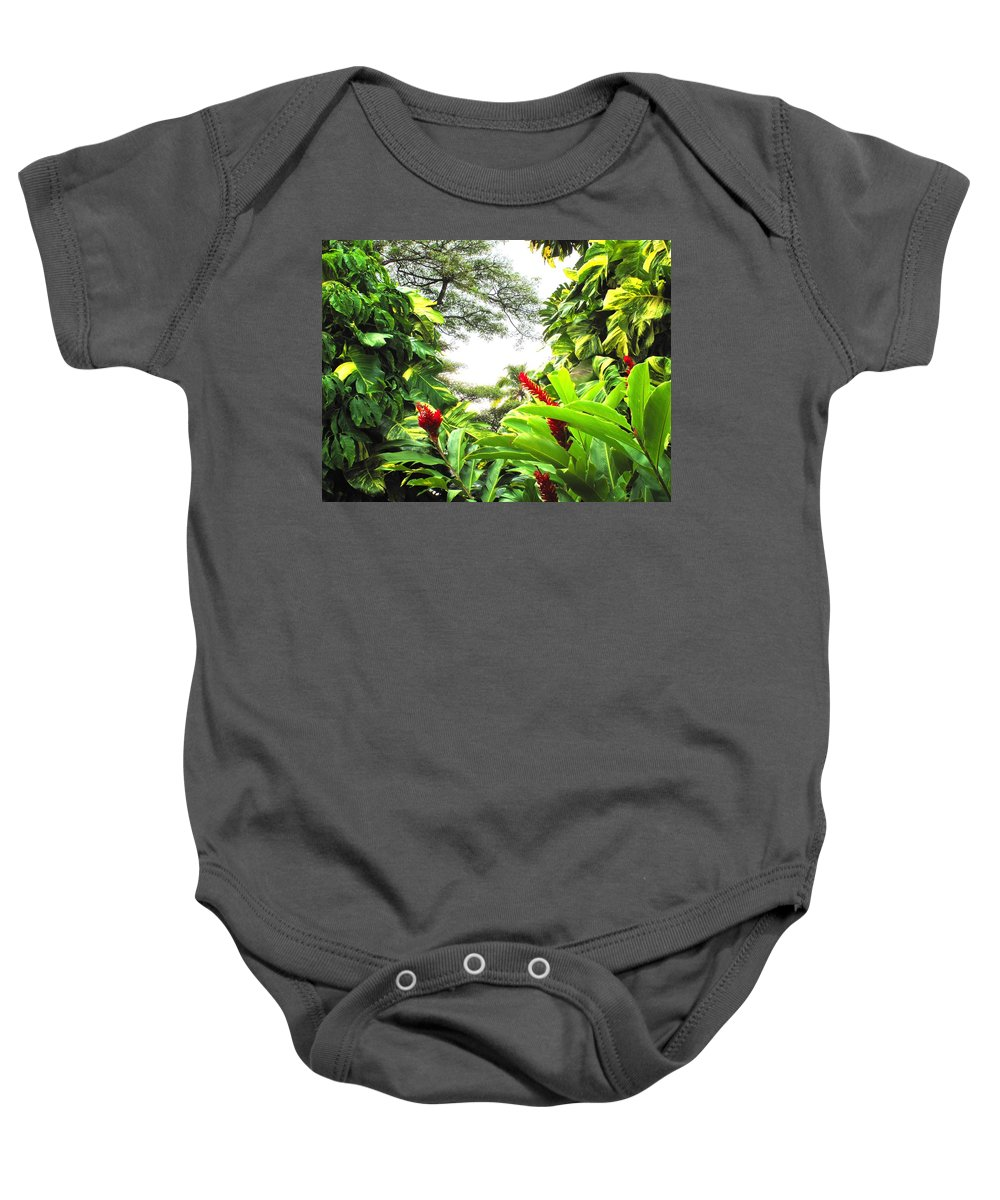 St Kitts Baby Onesie featuring the photograph Lush by Ian MacDonald