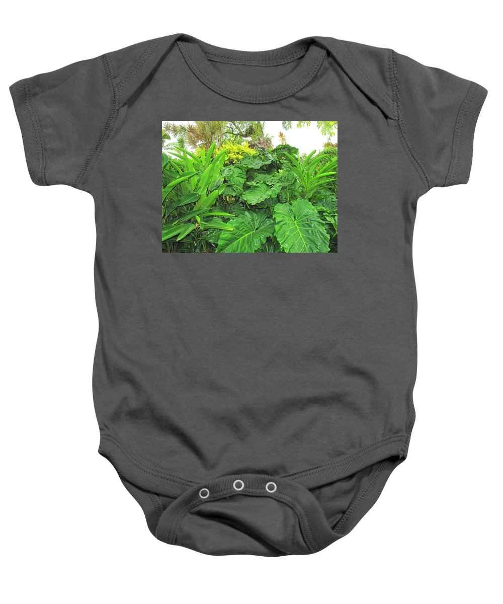 Vegetation Baby Onesie featuring the photograph Lust Too by Ian MacDonald
