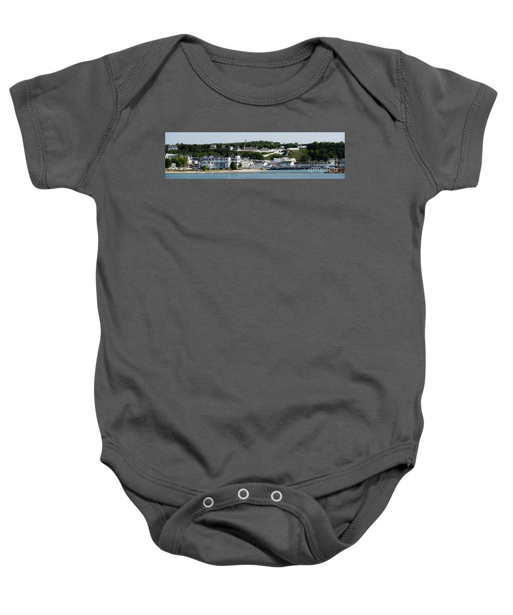 Mackinac Baby Onesie featuring the photograph Mackinac Island by Wesley Farnsworth