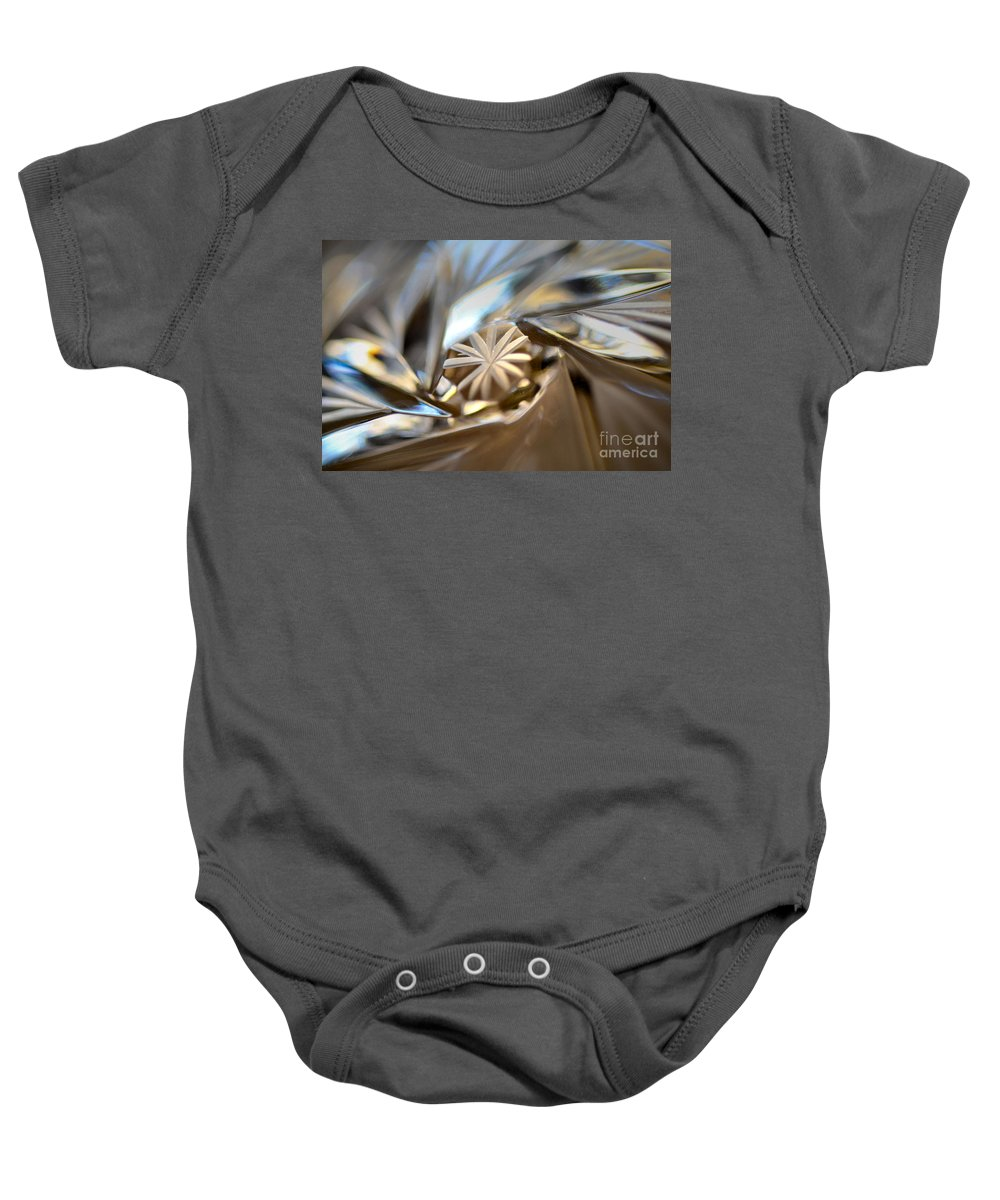 Abstract Baby Onesie featuring the photograph Macro Magic by Deb Halloran