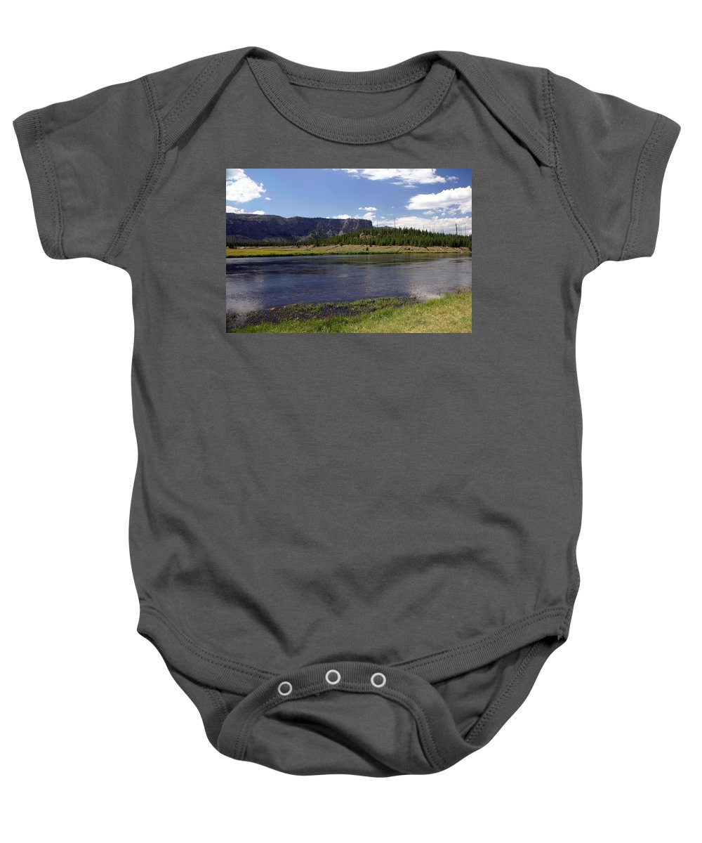 Madison River Baby Onesie featuring the photograph Madison River Valley by Marty Koch