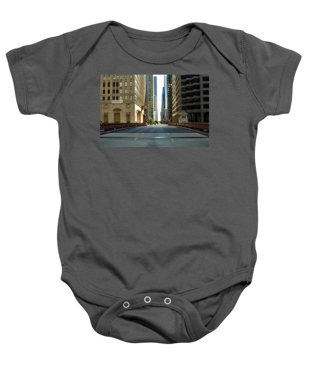 Madison Street Bridge Baby Onesie featuring the photograph Madison Street Bridge - 4 by Ely Arsha