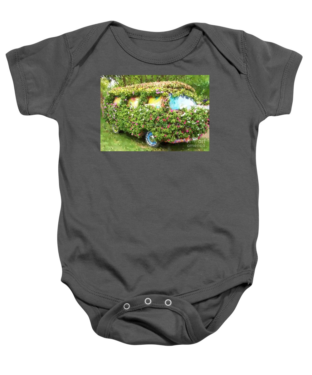 Volkswagen Baby Onesie featuring the photograph Magic Bus by Debbi Granruth