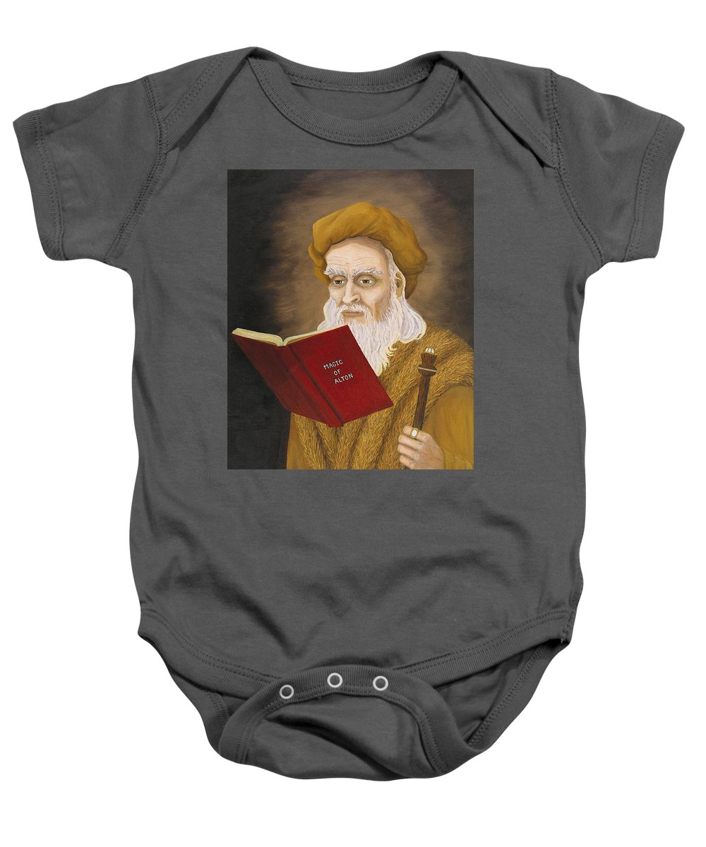 Magic Baby Onesie featuring the painting Magic Of Alton by Roz Eve
