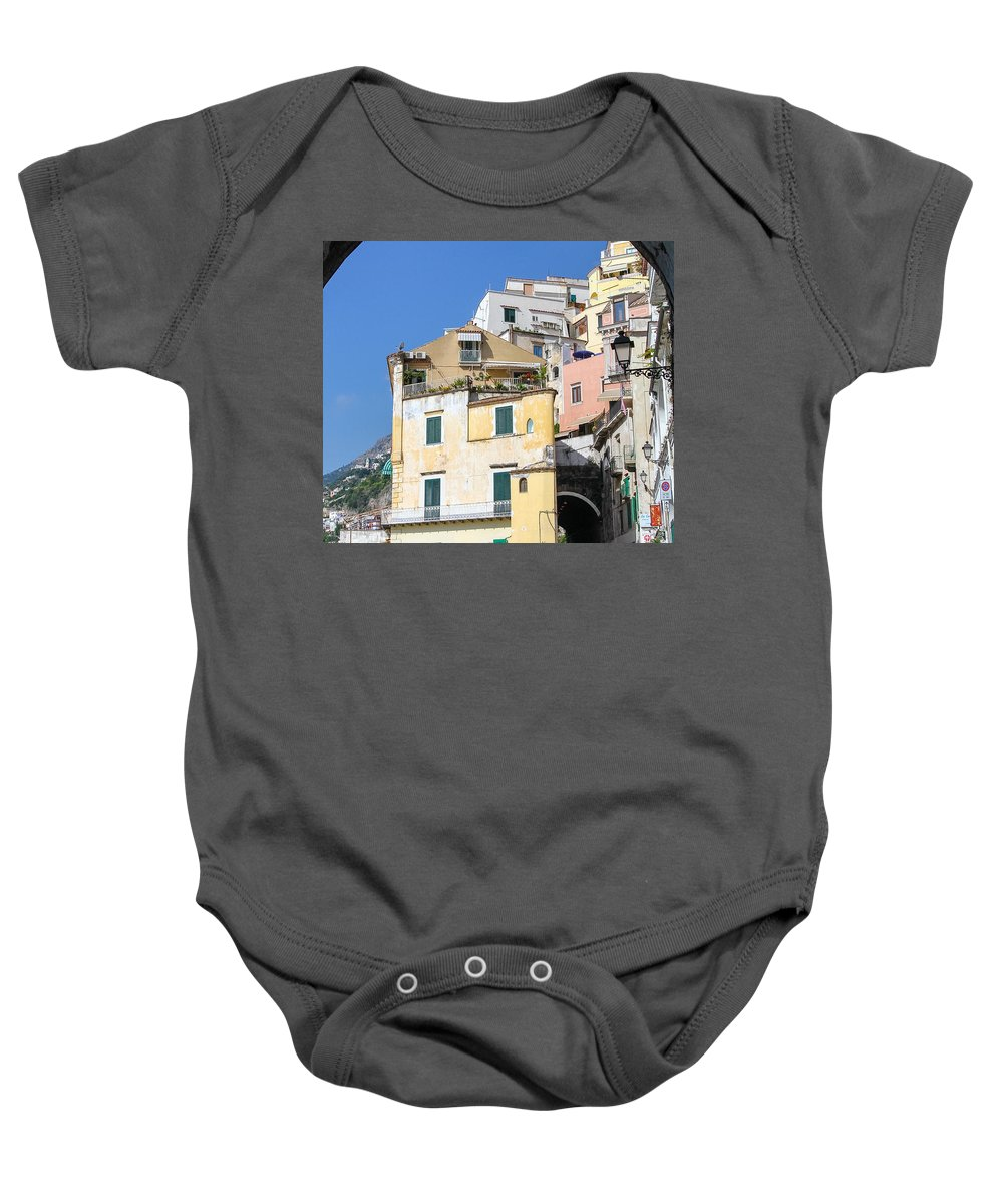 Almafi Coast Baby Onesie featuring the photograph Magical Passage by Allan Levin