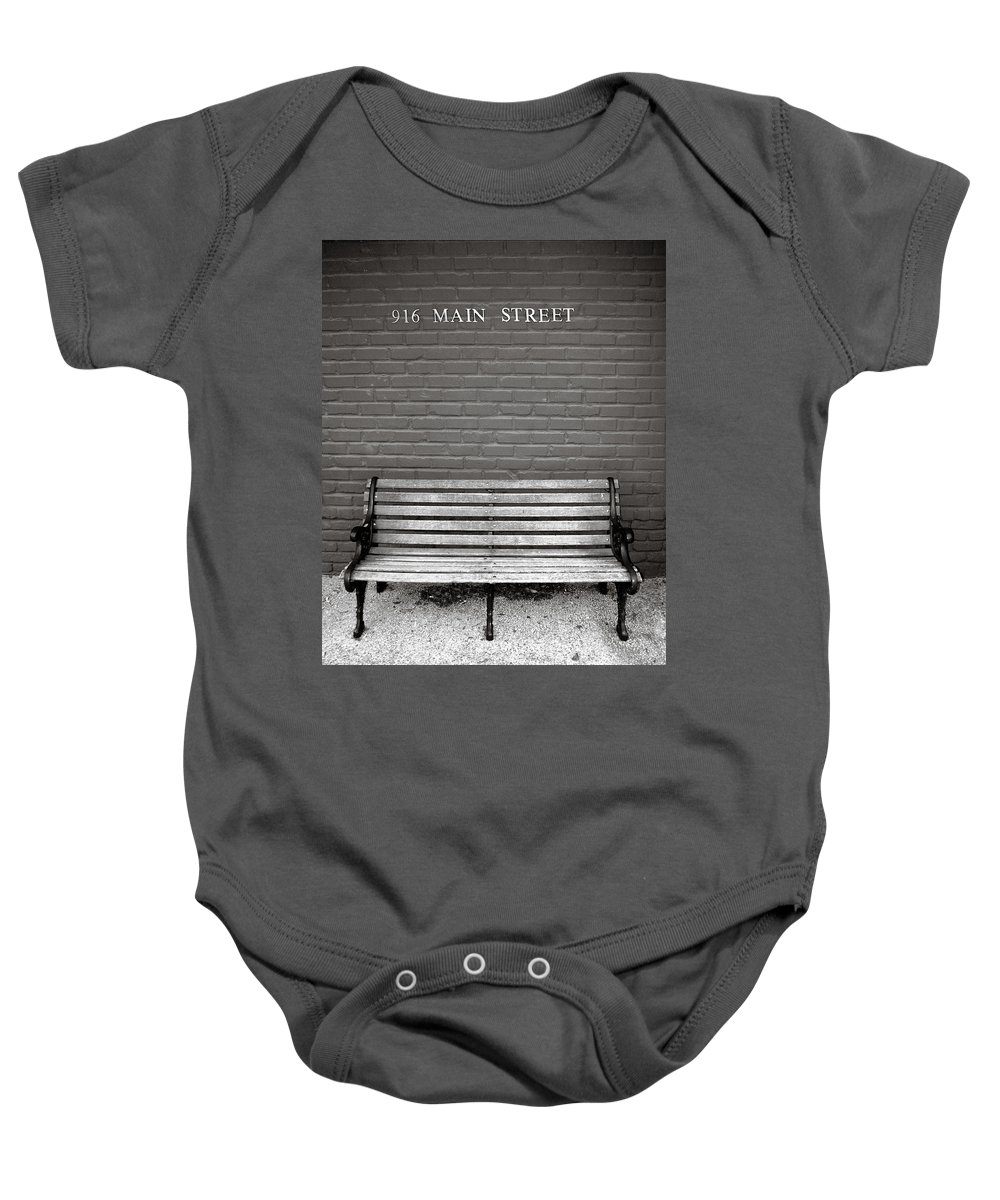 Americana Baby Onesie featuring the photograph Main Street Usa by Marilyn Hunt