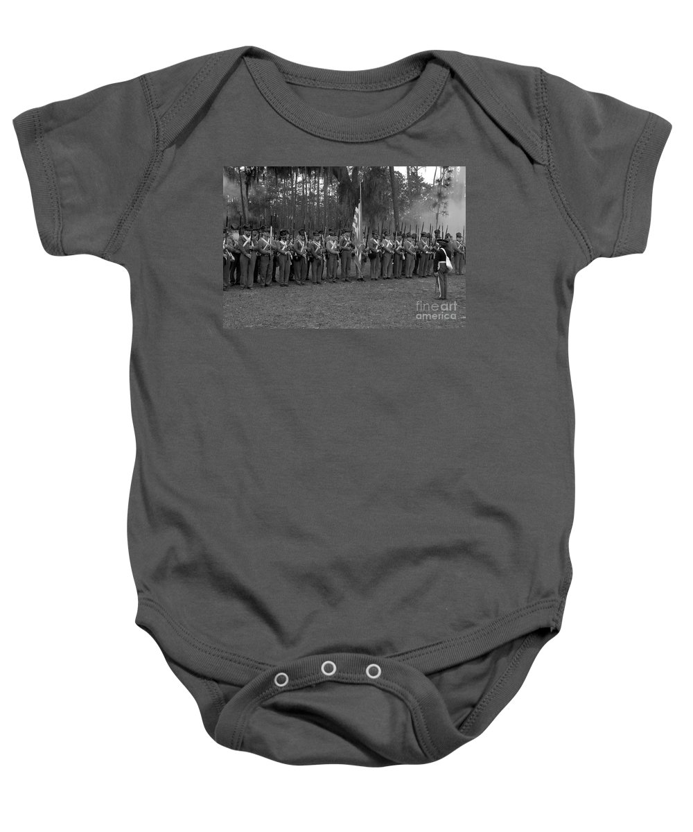 Dade Battlefield Baby Onesie featuring the photograph Major Dade's Men by David Lee Thompson