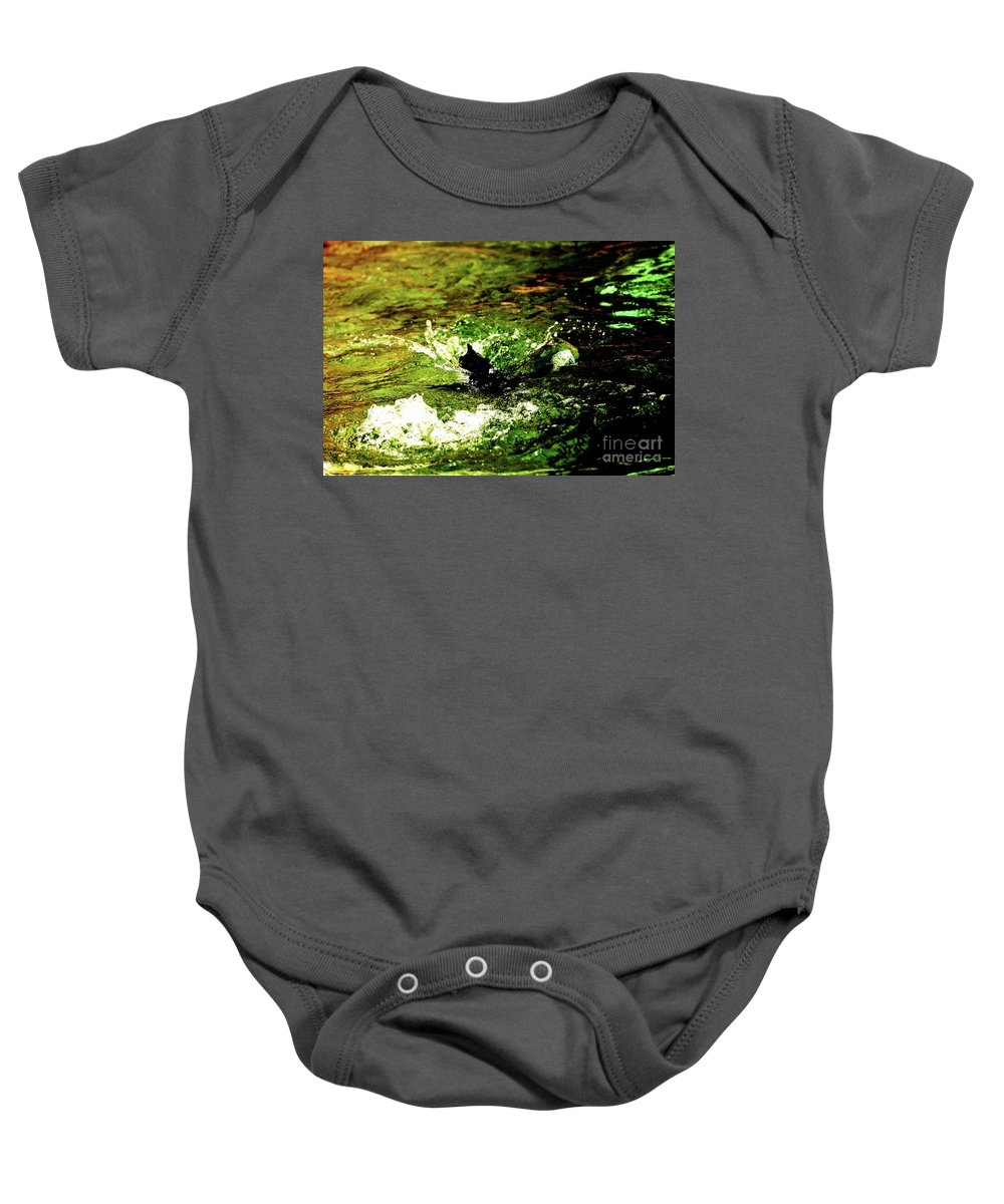 Water Baby Onesie featuring the photograph Making A Splash by Lori Tambakis