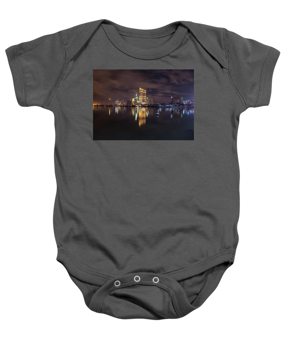 Landscape Baby Onesie featuring the photograph Manila City At Night by Aries De Jesus