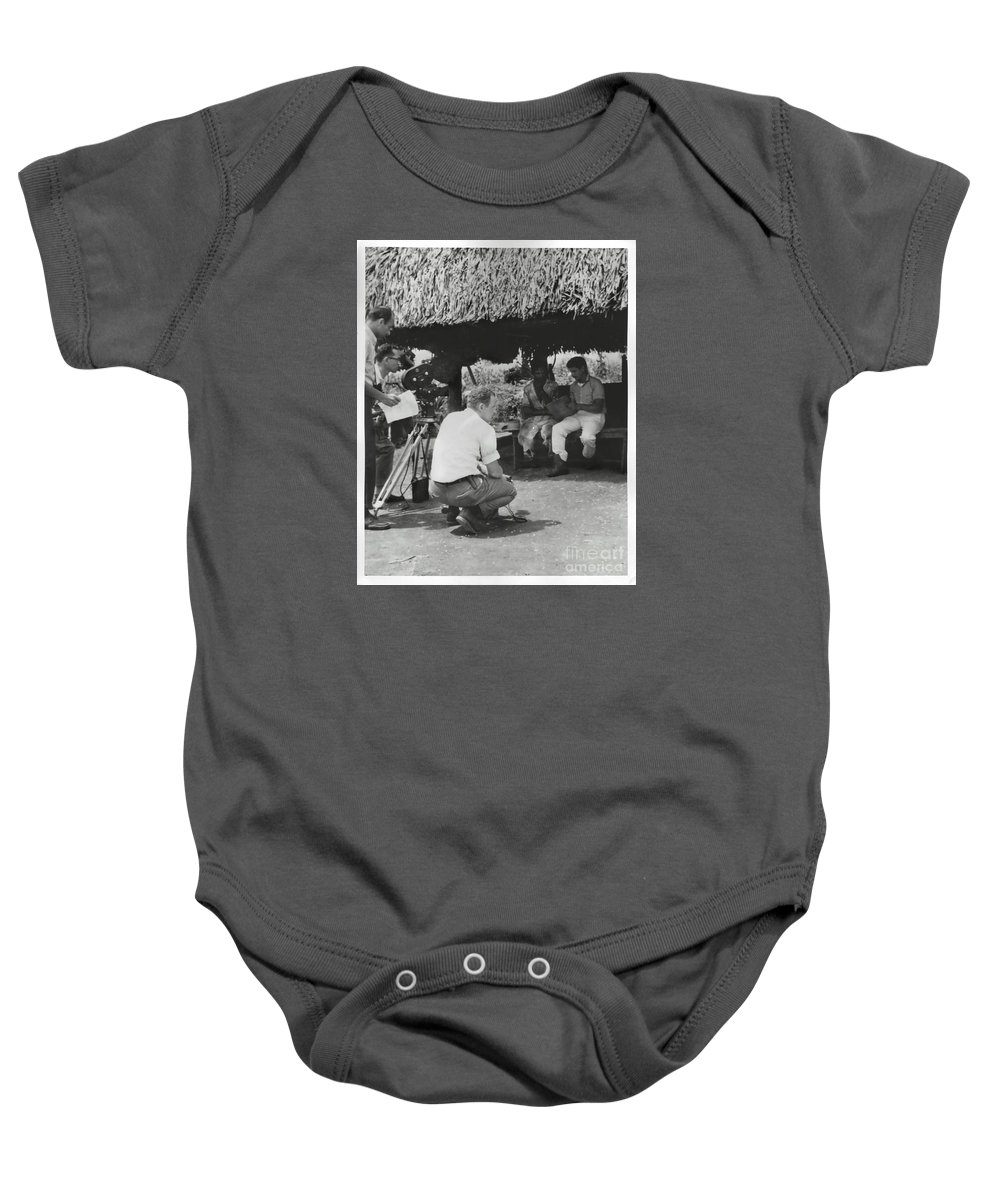 Documentary Baby Onesie featuring the photograph Maquina Documentary by Glenn Forman