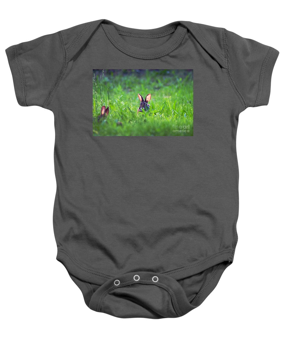 Clay Baby Onesie featuring the photograph Marco - Polo by Clayton Bruster