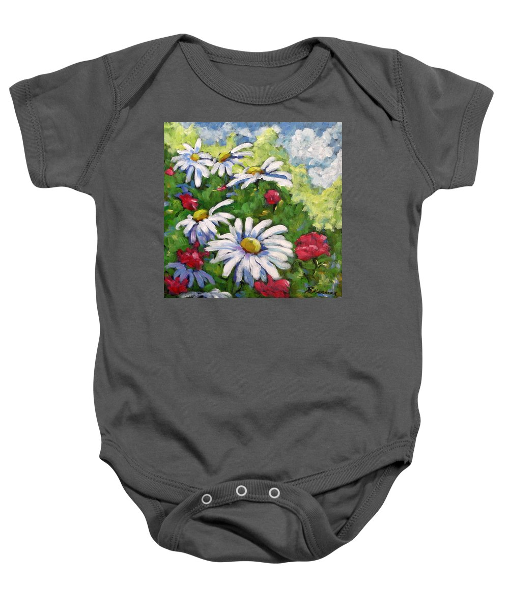 Daysy Baby Onesie featuring the painting Marguerites 002 by Richard T Pranke