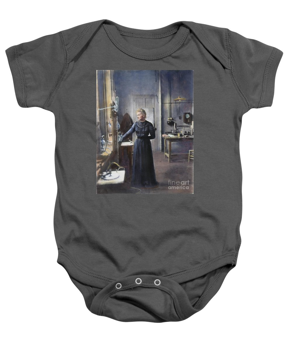 1908 Baby Onesie featuring the photograph Marie Curie (1867-1934) by Granger