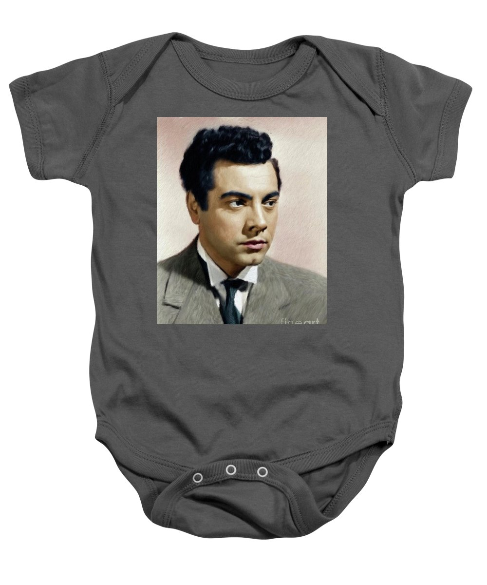 Mario Baby Onesie featuring the painting Mario Lanza, Tenor/actor by Mary Bassett