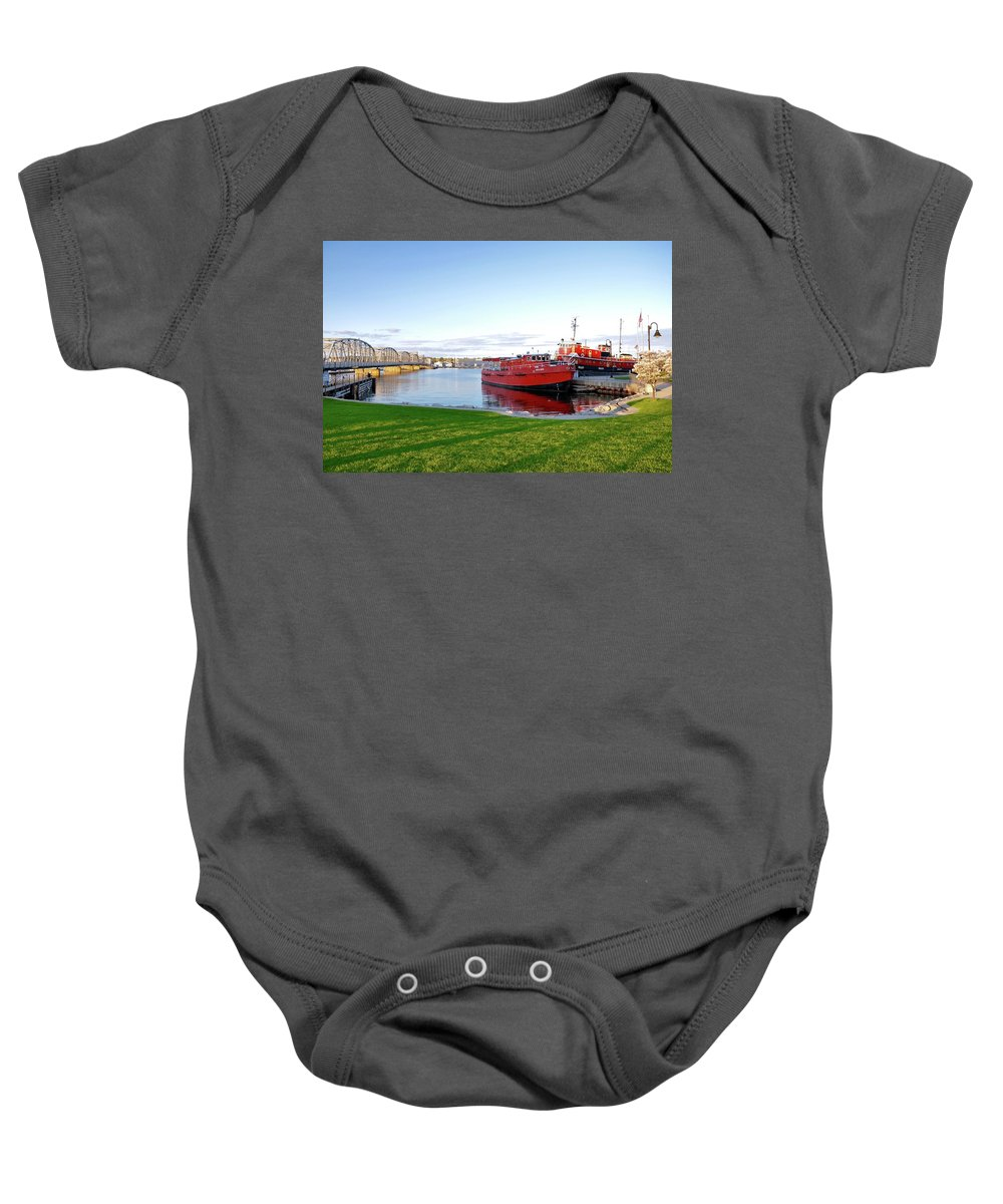 Landscape Baby Onesie featuring the photograph Maritime Springtime by Jeremy Evensen