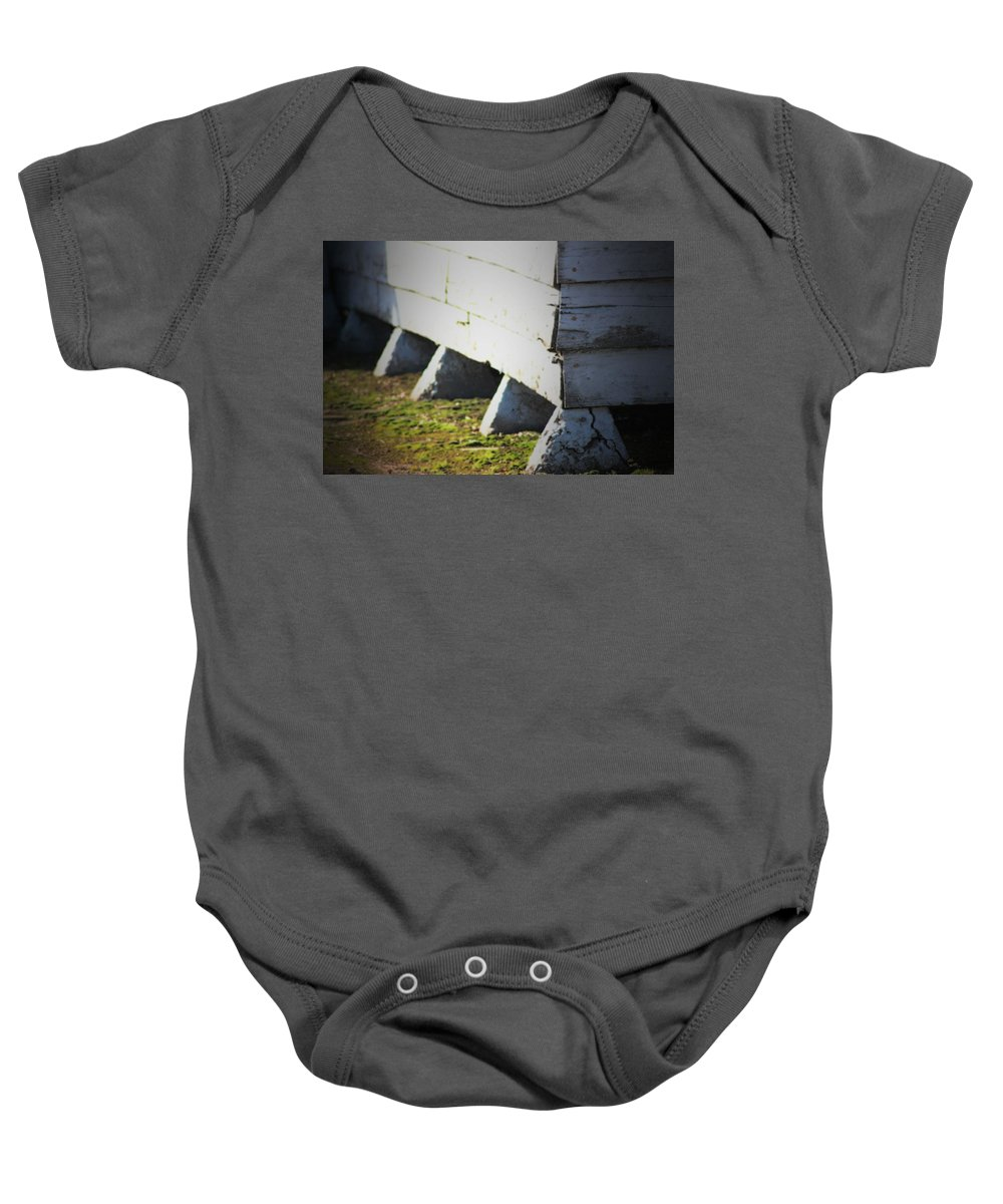 Old Church Baby Onesie featuring the photograph Marsh Berea Church by Karen Wagner