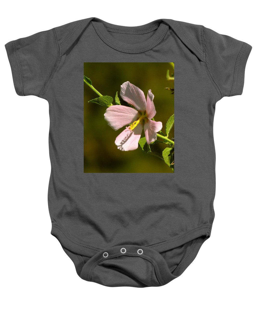 Marsh Mallow Baby Onesie featuring the photograph Marsh Mallow by Peg Urban