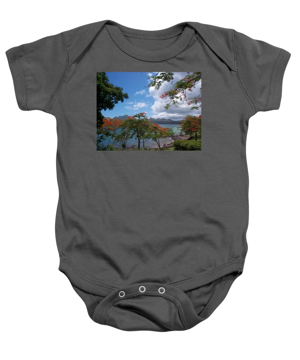 Donation Baby Onesie featuring the photograph Martinique by Mary-Lee Sanders
