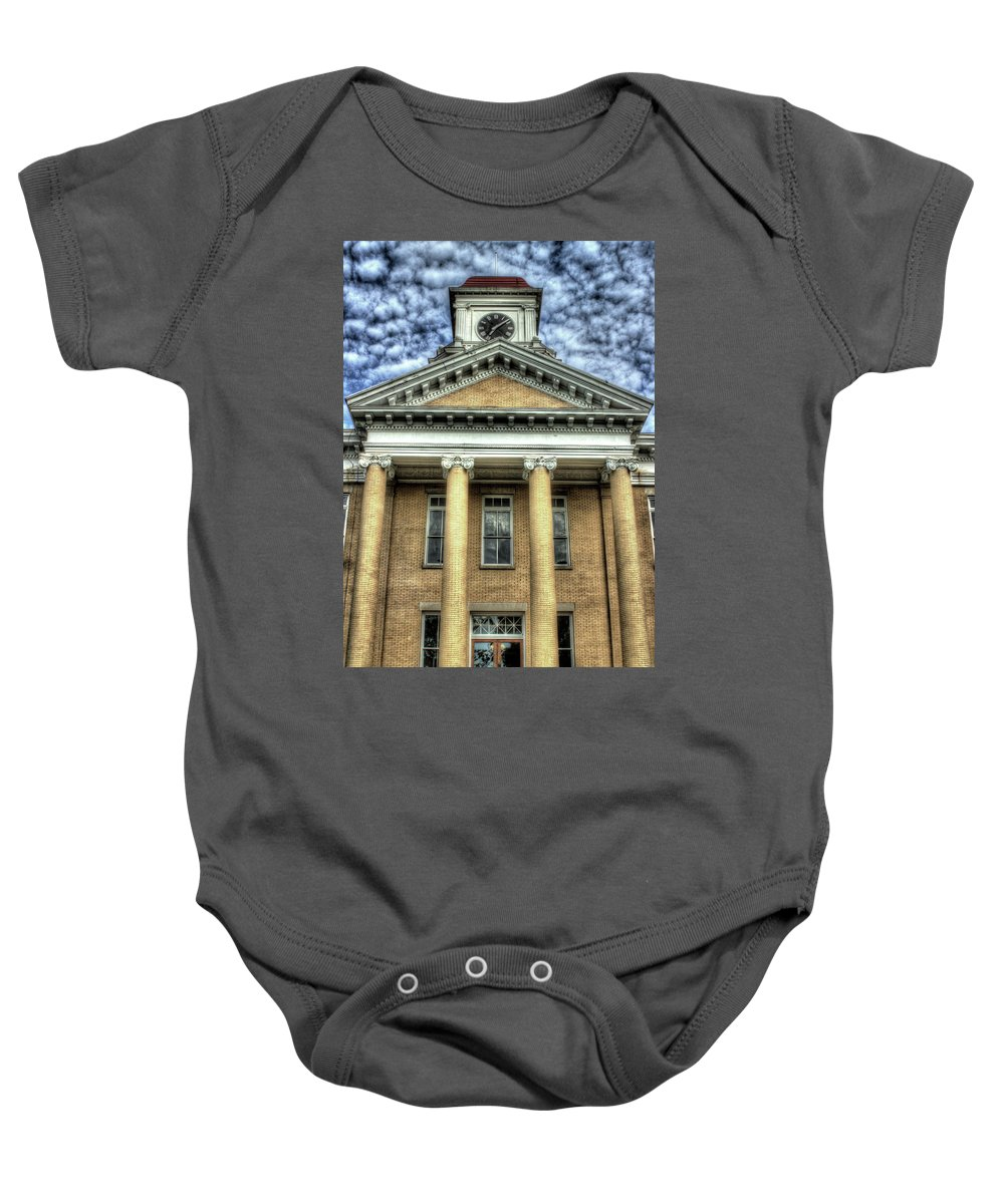 Maryville Tennessee Courthouse Baby Onesie featuring the photograph Maryville Tennessee Courthouse by Michael Eingle