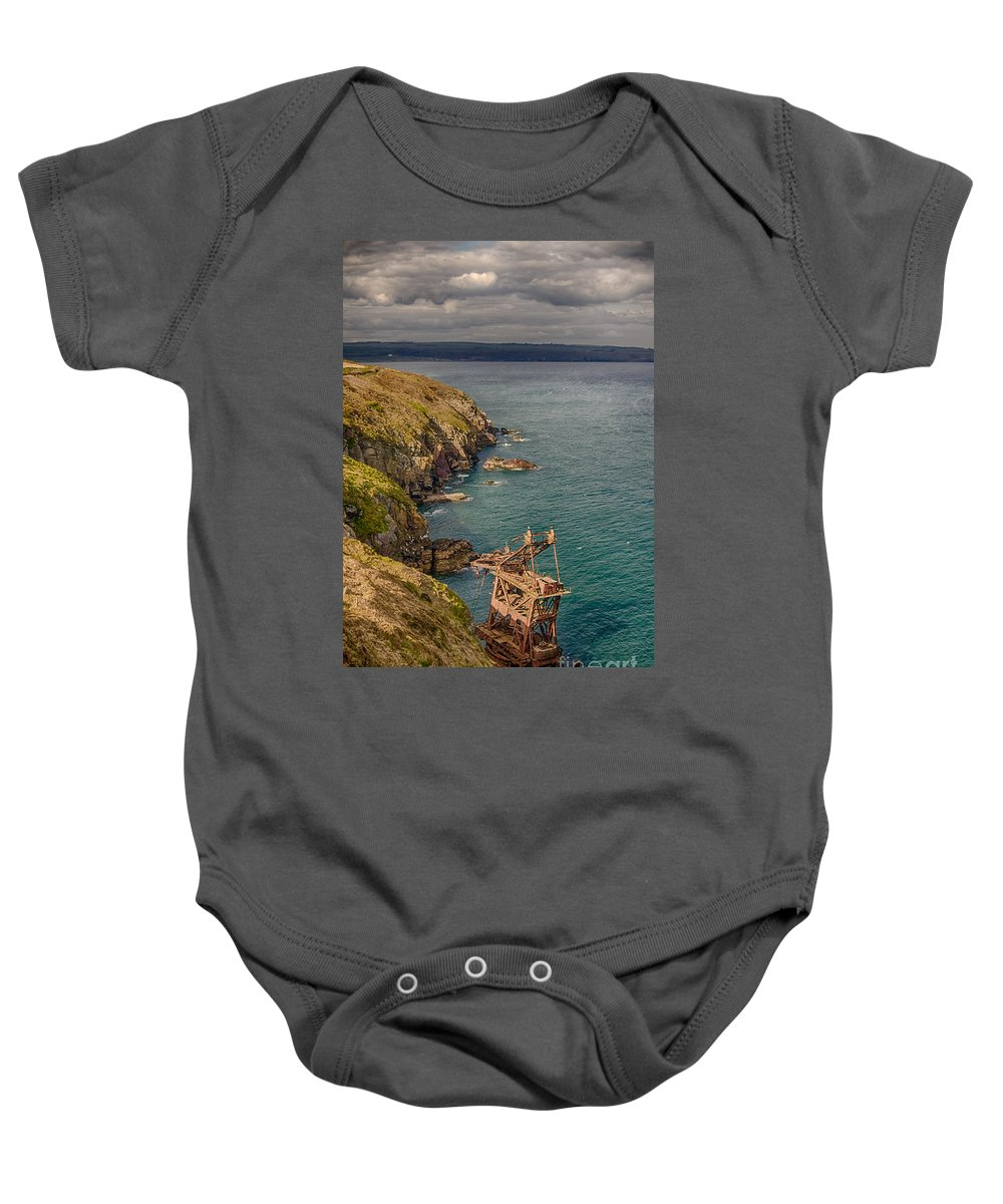 Ardmore Baby Onesie featuring the photograph Mason Crane Wreck 2 by Marc Daly