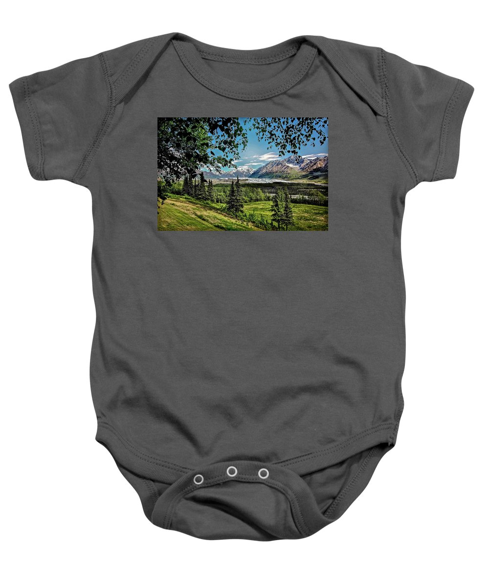Alaska Baby Onesie featuring the photograph Matanuska Glacier by Bob Lynn