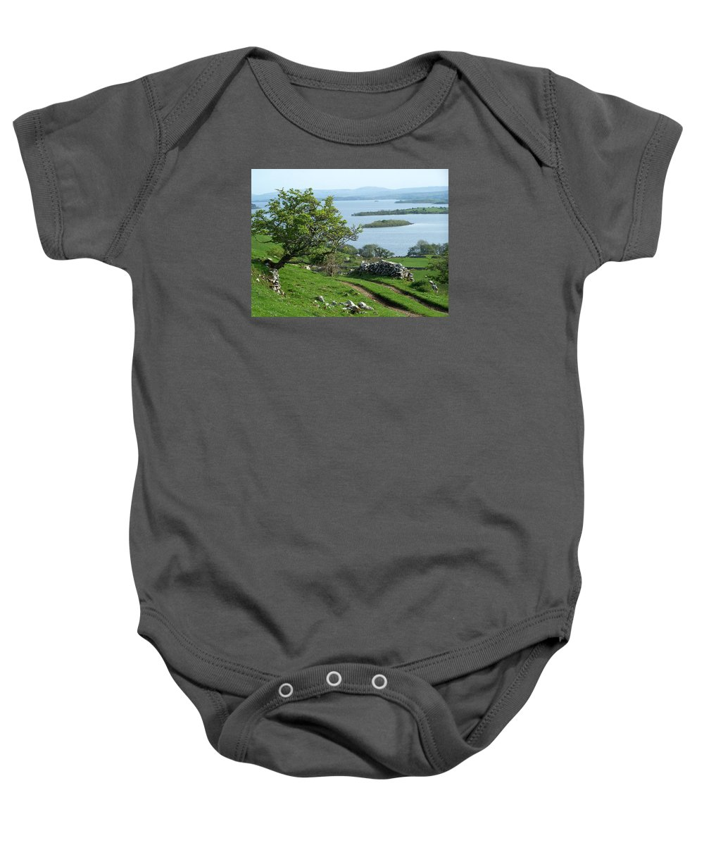 Ireland Baby Onesie featuring the photograph May The Road Rise To Meet You by Teresa Mucha
