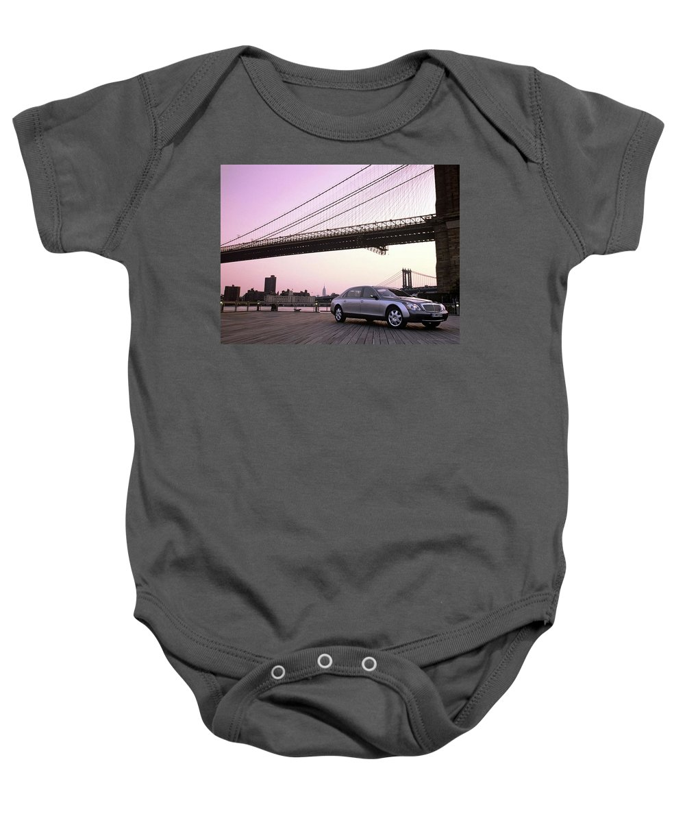 Baby Onesie featuring the digital art Maybach 8 by Alice Kent