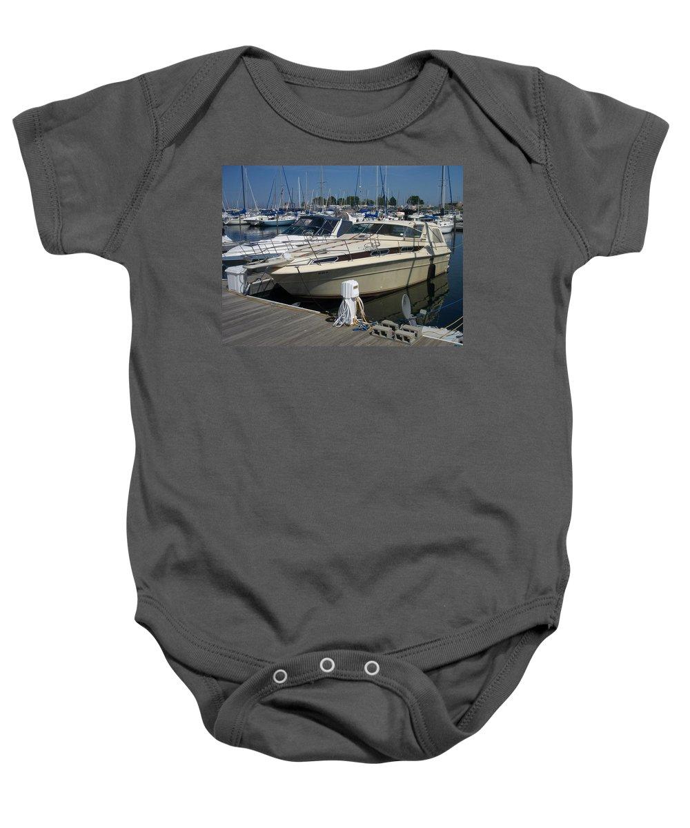 Mckinley Marina Baby Onesie featuring the photograph Mckinley Marina 7 by Anita Burgermeister