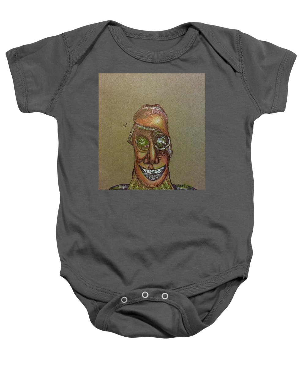 Mechanic Baby Onesie featuring the drawing Mechanic by Ethan Dennis