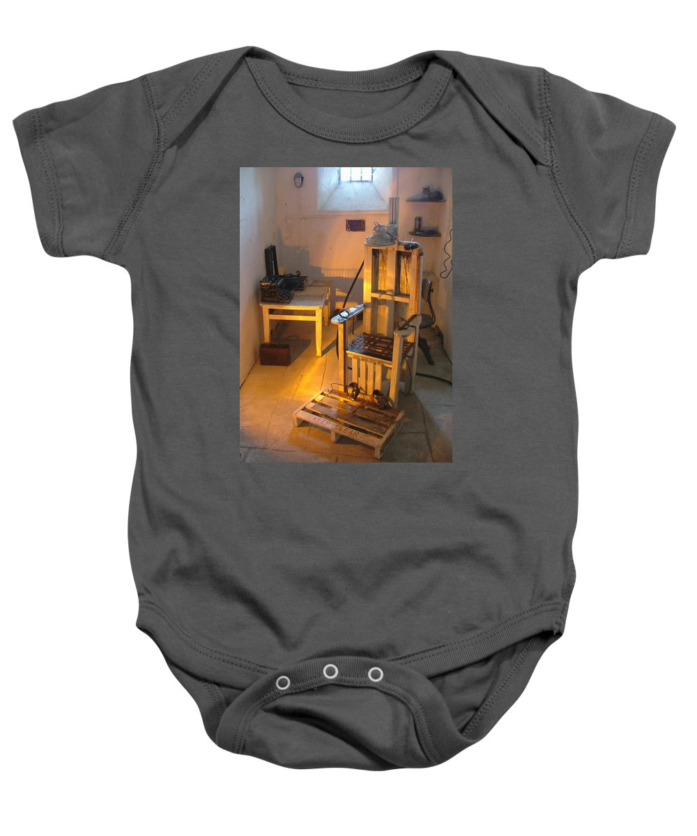 Halloween Baby Onesie featuring the photograph Medical Room by Heather Lennox