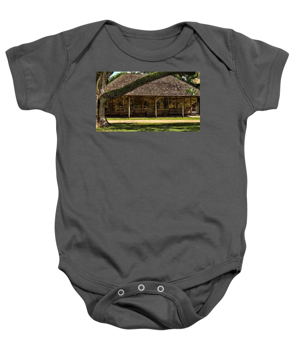 America Baby Onesie featuring the photograph Melrose Barn by Judy Vincent