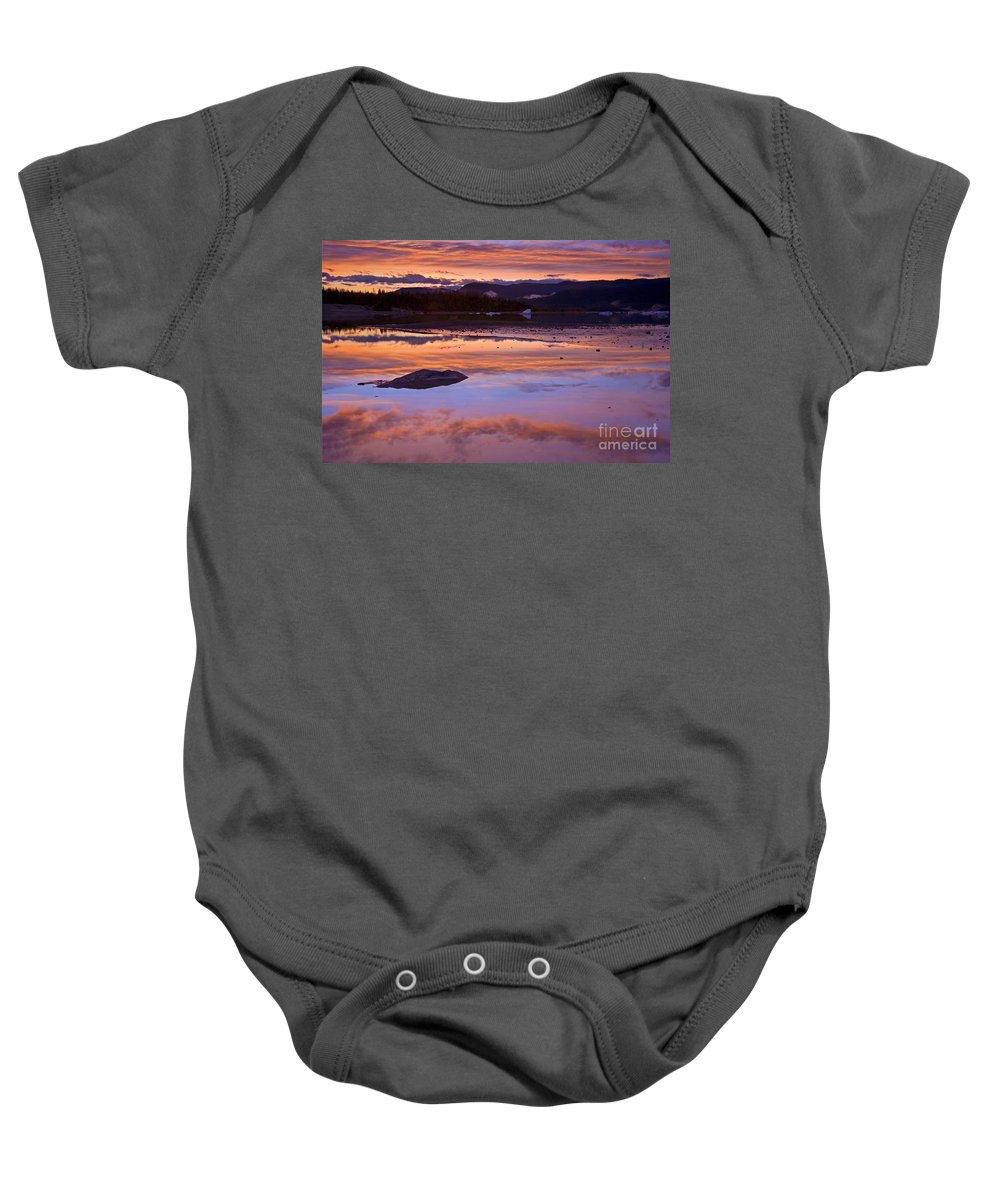 Sunset Baby Onesie featuring the photograph Mendenhall Sunset by Mike Dawson