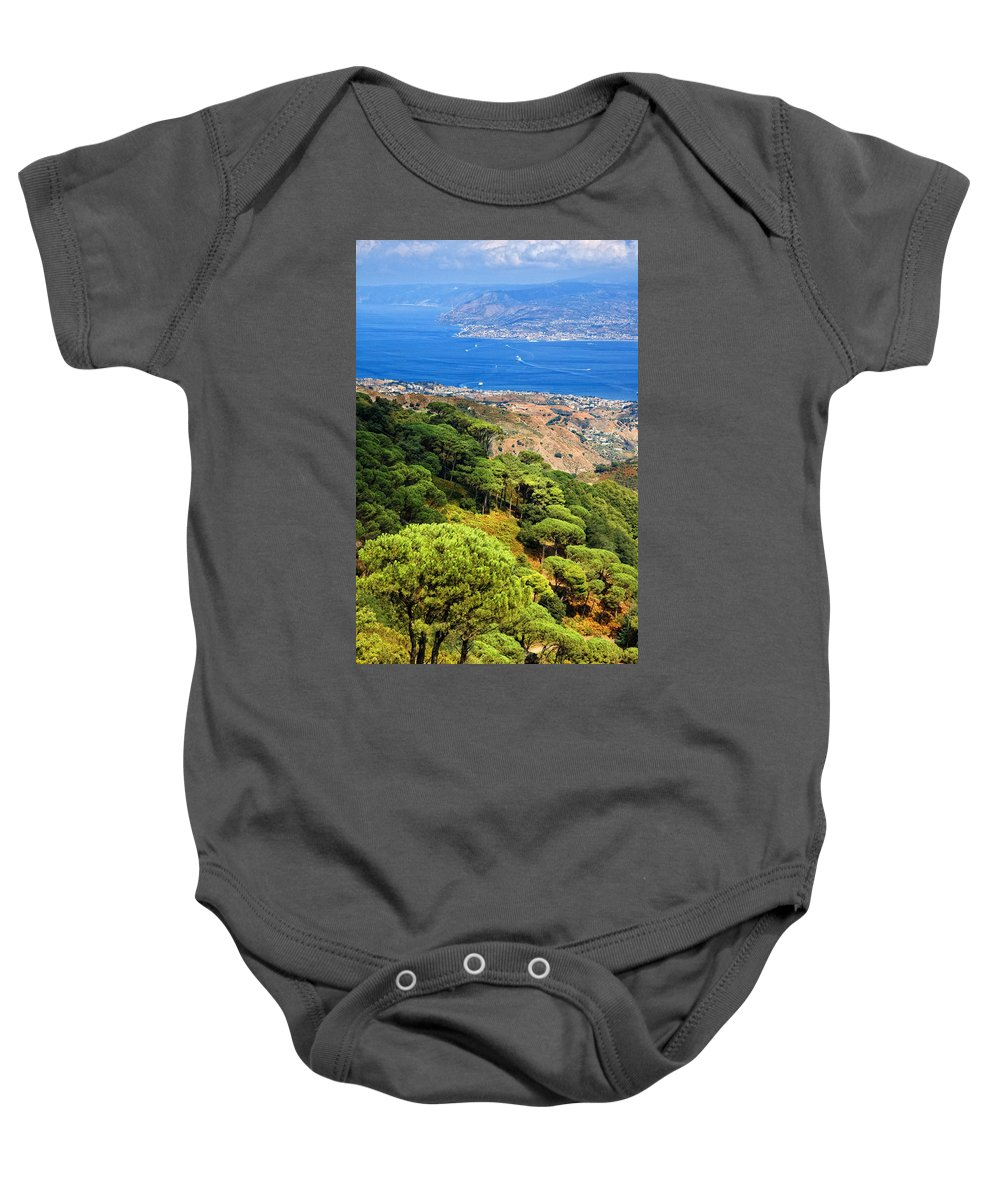 Italy Baby Onesie featuring the photograph Messina Strait - Italy by Silvia Ganora