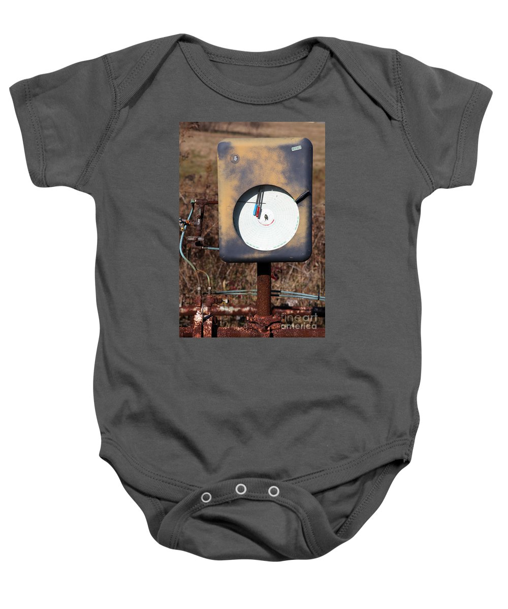 Meter Baby Onesie featuring the photograph Meter by Amanda Barcon