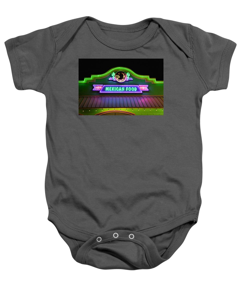 Mexican Food Baby Onesie featuring the photograph Mexican Food by Don Columbus